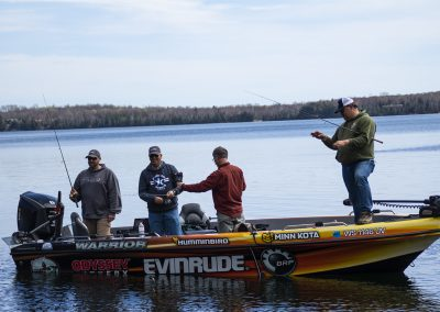 The American Heroes Outdoor TV Crew Fishing with HP Guest
