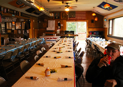 Dinner Setup at American Legion Winegar Post 480