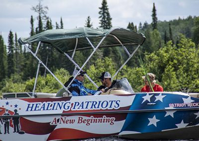 Loving the Healing Patriots Party Boat