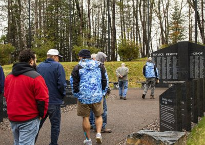 Walking slowly through the memorial