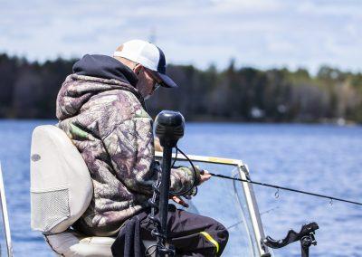 Quietly fishing