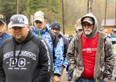 Healing Patriots guests visiting the war memorial