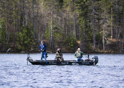 Healing Patriots guests fishing with a professional guide